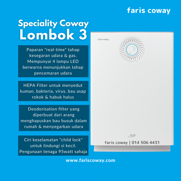 coway lombok 3 function