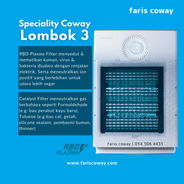 coway lombok 3 specification