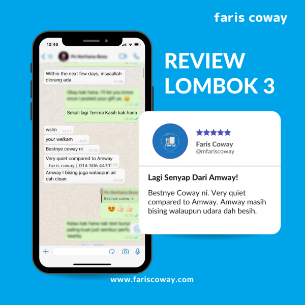 Coway air purifier lombok 3 review